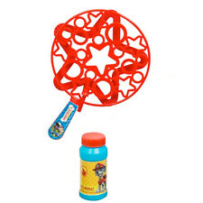 Paw Patrol Big Bubble Wand Set Kids Garden Fun Liquide Jouet plein air cadeau savon NEUF