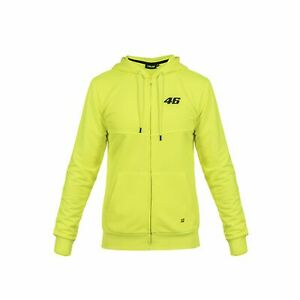 Official VR46 Valentino Rossi Core Collection Small 46 Zip Hoodie - Yellow