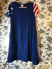 NWT LulaRoe XS XSMALL Jessie Dress W Pockets Blue W Stars & Stripes Rare