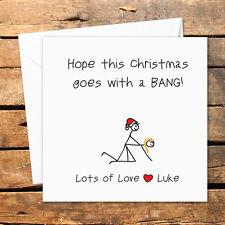Personalised Handmade Christmas Card Bang Sex Doggy Joke Funny Rude Adult Humour