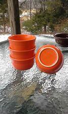 set 4 GUSTO BOWLS poppy orange HOMER LAUGHLIN FIESTA WARE 23 OZ. NEW
