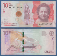 KOLUMBIEN / COLOMBIA  10.000 Pesos 2015 (2016) UNC  P.NEW