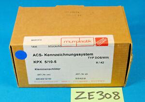 Boite de 1400 x MURRPLASTIK MP 86401210 KPX 5/10-5 repère electrique ( ZE308