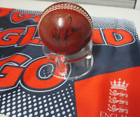 Kevin Pietersen (England) signed Red  Cricket Ball + COA & photo proof