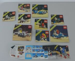 Lot Of Vintage Lego Space Instructions