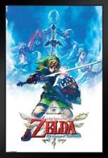 Zelda Skyward Sword Drawing Framed Poster 12x18