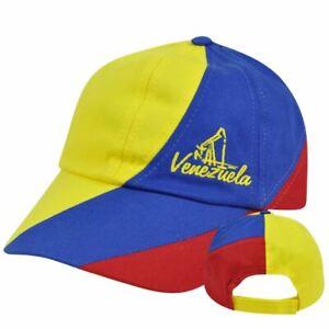 Venezuela Gorra Garment Wash Slouched Fit Adjustable  Hat Cap Flag Country