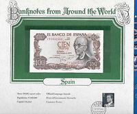 World Banknotes Spain 100 Pesetas 1970 P 152 UNC Prefix 7T
