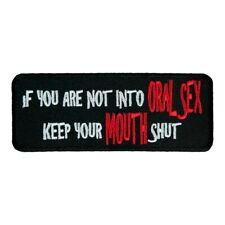 Oral Sex Keep Mouth Shut Patch, Dirty Sayings Patches