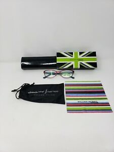 William Morris London Women's Glasses Black Sz M 52 135mm 6025-02 +Cloth Box Bag