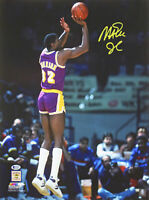 Lakers Magic Johnson Authentic Signed 16x20 Vertical Shooting Photo BAS Witness