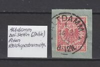 """DR - Stempel """"ALTDAMM 1"""" bei Stettin, 14.8.93 - auf DR (Bfst.) - bitte ansehen !"""