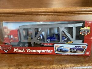 Disney Pixar Cars Mack Transporter With Sally and Doc Hudson -NIB