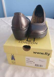 Fly London womens Yoni , Graphite, shoes size UK 4, EU 37