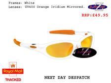k5 RayZor Uv400 White Framed Orange Mirror Lens Ski Snowboard Sunglasses RRP£49