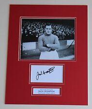 JACK CROMPTON Manchester United SIGNED Autograph Photo Mount Memorabilia + COA