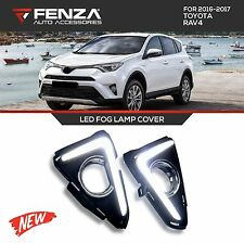LED FOG LAMP COVER FOR 2016-2017 TOYOTA RAV4 DAYTIME RUNNING LIGHT W/TURN SIGNAL