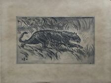 KNUD KYHN (1880-1969) LÖWIN LION - AFRIKA 1941 - MODERN DANISH ART