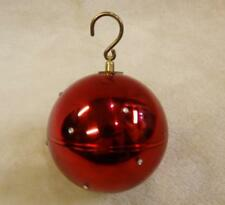 Reuge Swiss Made Musical Mechanical Christmas Ruby Red Ball Ornament Rhinestones