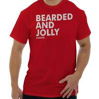 Bearded Jolly Christmas Shirt Funny Hipster Santa Claus Elf T Shirt Tee For Men