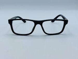 VERSACE VE3211 GB1 Black 55-17-145 Men's Unisex Eyeglasses Frames Gold Logo $245