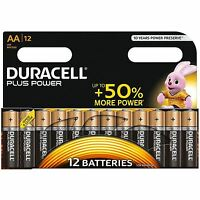 12x Duracell AA Plus Power Duralock Alkaline Batteries Cell LR6 Non-Rechargeable