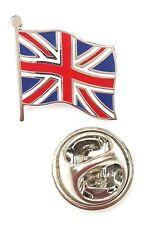 UK Small Union Jack Waving Flag Quality Enamel Lapel Pin Badge T144