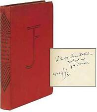 James T FARRELL / A Note on Literary Criticism Signed 1st Edition 1936