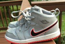 Nike Air Jordan 1 Mid Wolf Grey/Black-Racer Pink Girls size 9c  644507 060