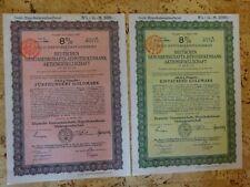 2 Goldhypothekenpfandbriefe über 500 und 1000 Goldmark vom 20.05.1924