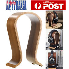 Wooden Wood Headphone Stand Holder Earphone Hanger Headset Display Rack AU