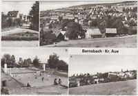 DDR AK Bernsbach Kreis Aue ! mit Siedlerstrasse und Freibad !