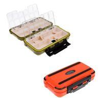 2x Waterproof Double Sided Fly Box Fishing Lure Hook Case Bait Storage Box