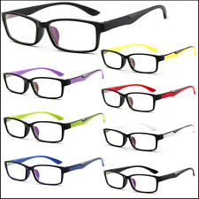 Sports Style Mens Womens Clear Lens Square Frame Vintage Retro Fashion Glasses