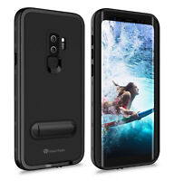 For Samsung Galaxy S9 Plus Waterproof Case Cover with Screen Protector Kickstand