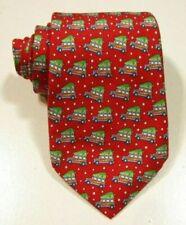 Vineyard Vines Christmas Tree Boys Neck Tie RED SILK USA NWOT