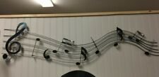 NEW LONG METAL MUSICAL NOTES MUSIC SCALE WALL ART DECOR