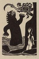 ZACHARIAS, Perseus erschlägt das Ungeheuer, 1980, Holzschnitt