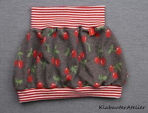 Ballonrock Handmade Jacquard Strick Kirsche 50/56/62/68/74/80/86/92/98/104/110