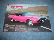 "1970 Dodge Challenger RT/SE Article ""High Impact"" Panther Pink"
