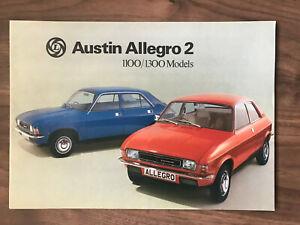 Austin Allegro 2 Car Brochure 1977 Free post