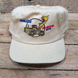 KOMATSU Avance Series Bucket Loader Tan Snap Back Trucker Hat