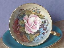 Vintage Mid Century Aynsley JA Bailey large pink rose bone china tea cup teacup