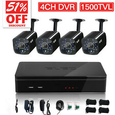 ELEC 4CH 1500TVL HDMI 960H DVR Outdoor Home Security Camera System 1.0MP Kit P3