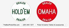 Poker Omaha round by round 2 inch (49 mm) dealer button