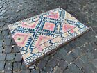 Bohemian rug, Organic rug, Turkish vintage rug, Handmade wool rug   3,0 x 4,1 ft
