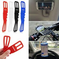1X For Cellphone Silicone Elastic Bicycle Motorcycle Bike Handlebar Mount Holder
