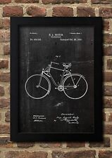 Velocipede 1890 H.A. becker patente tipo a4 Fine Art-print en calidad de la galería a4 01