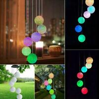 Solar Wind Chime Light LED Garden Hanging Spinner Lamp Changing New Decor C N6Z5