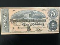 Vintage 1960's Civil War Confederate Currency Replica - Realistic